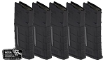 MAGPUL GEN 3 5.56 WINDOWED 5 PACK BLACK