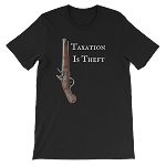 TAXATION IS THEFT SHORT SLEEVE SHIRT