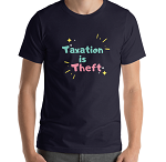 TAXATION IS THEFT V2 SHORT SLEEVE SHIRT